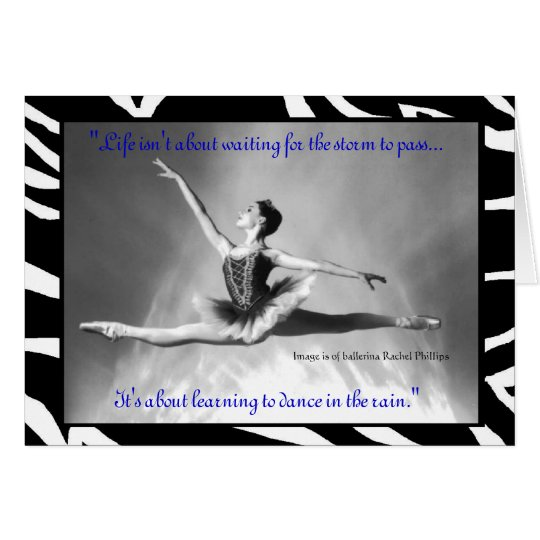 Ballerina Rachel Phillips Card