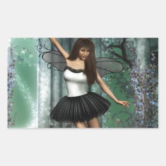 Ballerina Rectangle Sticker