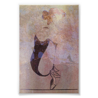 Ballerina Red Hair Woman Body Pink Rose Gold Poster
