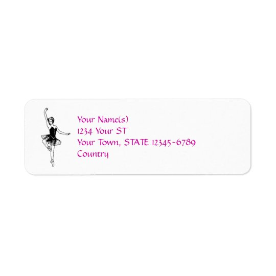 Ballerina - return address labels