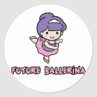 Ballerina Round Sticker