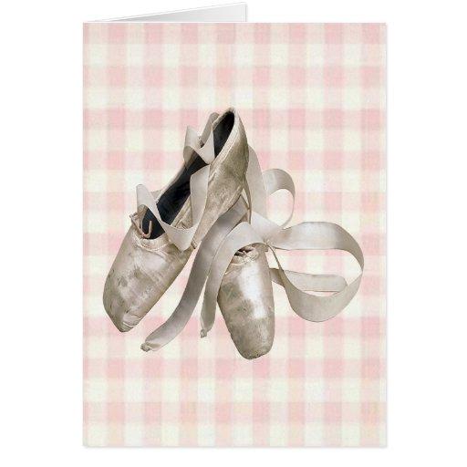Ballerina Shoes Greeting Card