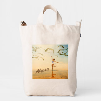 Ballerina Shoulder Tote Bag with name can change