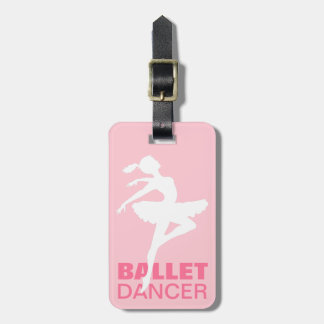 Ballerina Silhouette CHOOSE YOUR BACKGROUND COLOR Bag Tag