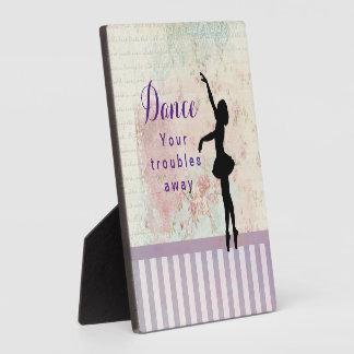 Ballerina Silhouette Dance Your Troubles Away Plaque