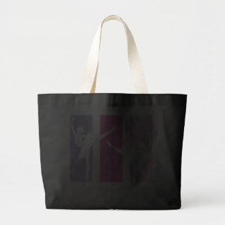 Ballerina Silhouette in Pink Canvas Bags