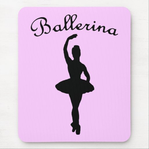 Ballerina Silhouette Mouse Pad
