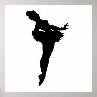 Ballerina Silhouette Poster
