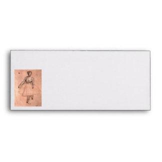 Ballerina sketch by Degas pretty ballet dancer art Envelope
