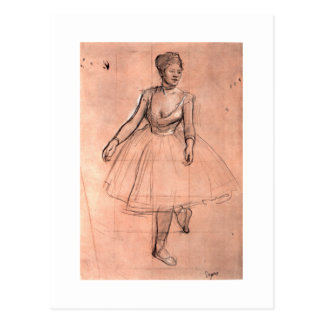 Ballerina sketch by Degas pretty ballet dancer art Postcard