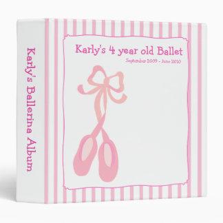 BALLERINA Slippers Ballet Girl Photo Album 3 Ring Binder