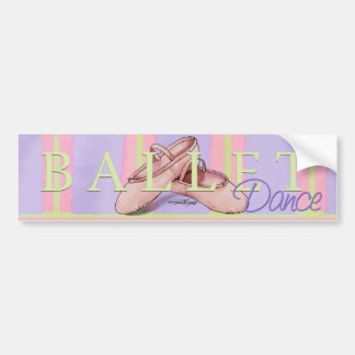 Ballerina Slippes Car Bumper Sticker