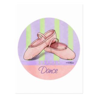 Ballerina Slippes Postcard