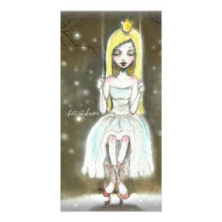 Ballerina Snow Princess note card, Christmas card