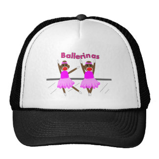 Ballerina Sock Monkeys--Adorable Design Trucker Hat