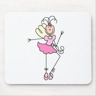 Ballerina Stick Figure Four Mousepad