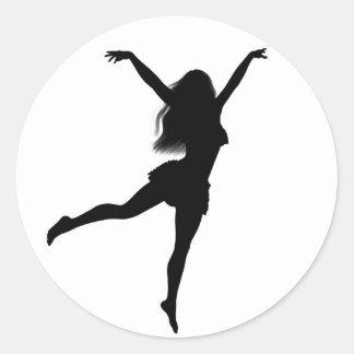 Ballerina Round Stickers