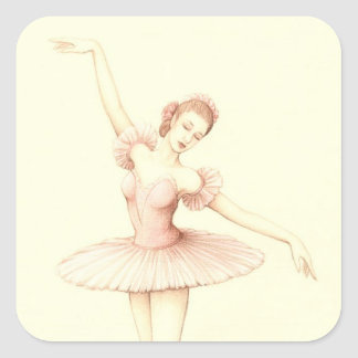 Ballerina Square Sticker