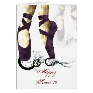 Ballerina Sweet 16 Birthday Card