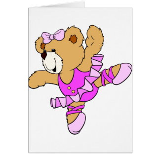 Ballerina Teddy Bear Greeting Cards