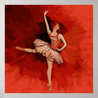 Ballerina, the graceful Ballet Dancer Vector Print