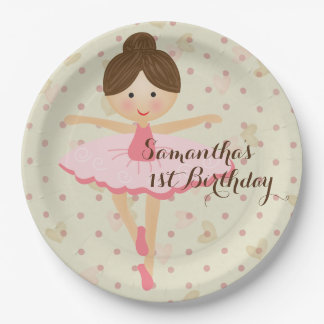Ballerina Themed Party Paper Plate