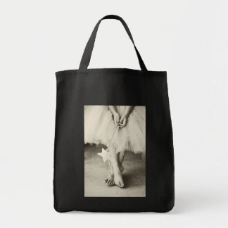 Ballerina Toes (Black & White) Grocery Tote Bag