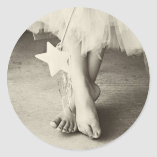 Ballerina Toes (Black & White) Stickers