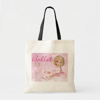 Ballerina Tote Bag, Cute Ballet Tote Bag
