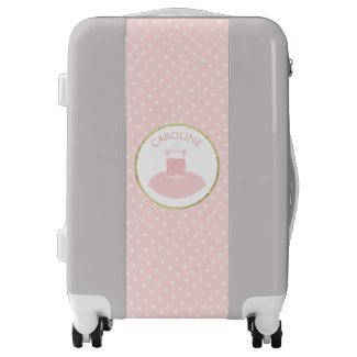 Ballerina Tutu in Pink and Gold Luggage