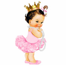 Ballerina Tutu Princess Baby Girl Shower Statuette