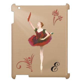 Ballerina With Fan, Customizable Monogram iPad Cover