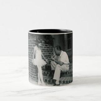ballerina with father mug