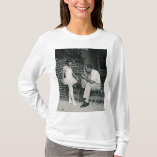 ballerina with father shirt