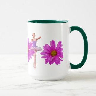 Ballerina with Pink Daisies Mug