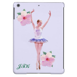 Ballerina with Pink Hibiscus Flowers Cover For iPad Air