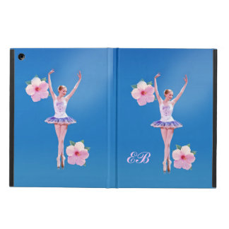 Ballerina with Pink Hibiscus Flowers iPad Air Cases