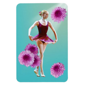 Ballerina with Pink Mums Flexible Magnet