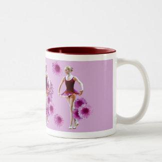 Ballerina with Pink Mums Mug