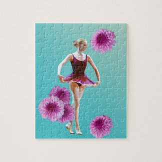 Ballerina with Pink Mums Jigsaw Puzzles