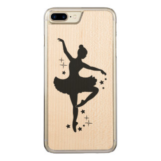 Ballerina with Stars in Silhouette Carved iPhone 7 Plus Case