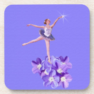 Ballerina with Violets Coaster