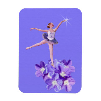 Ballerina with Violets Flexible Magnet