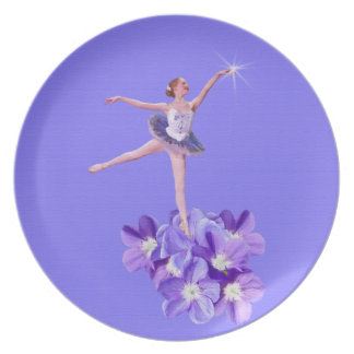 Ballerina with Violets Plate