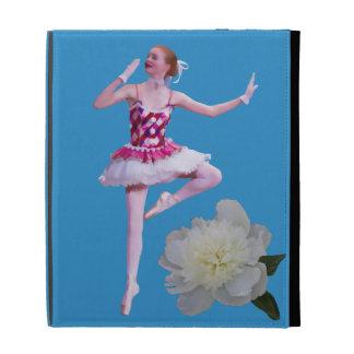 Ballerina with White Peony iPad Case