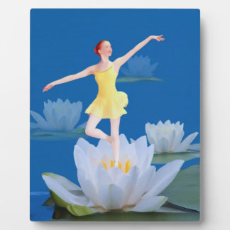Ballerina Wood Sprite, Water Lily Photo Plaques