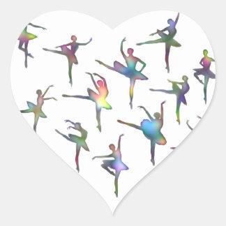 Ballerinas Heart Sticker