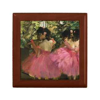 Ballerinas in Pink by Edgar Degas Jewelry Box