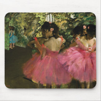 Ballerinas in Pink by Edgar Degas Mouse Pad