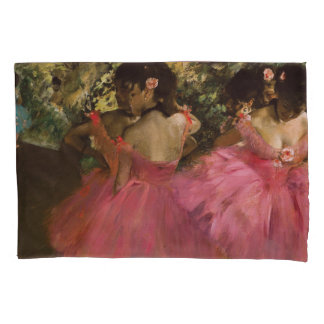 Ballerinas in Pink by Edgar Degas Pillow Case